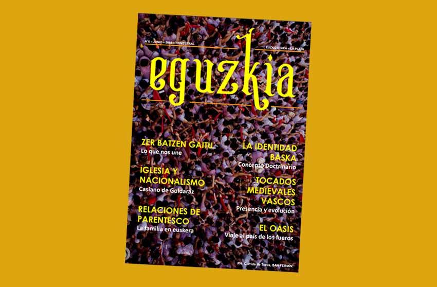 Número 6 de la revista trimestral 'Eguzkia' de Euzko Etxea de La Plata, segundo de este año