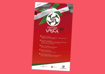 Poster and program for 2019 Semana Vasca organized by the Basque Community of Chile Basque Club July 23-28