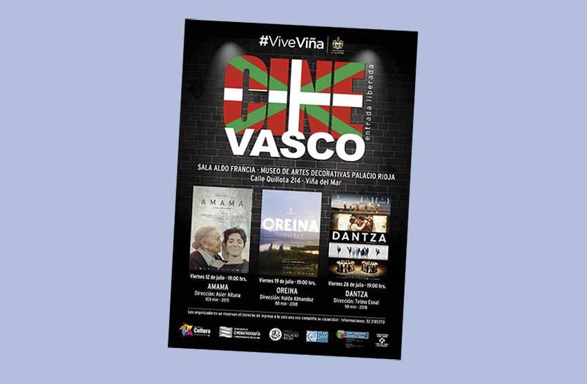 El Ciclo de Cine Vasco se ofrecerá los días 12, 19 y 26 de julio en Viña del Mar. Este viernes a las 19:00 horas, cóctel de inauguración